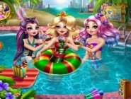 Ever After High Kızlarının Havuz Partisi