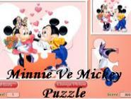Minnie Ve Mickey Puzzle