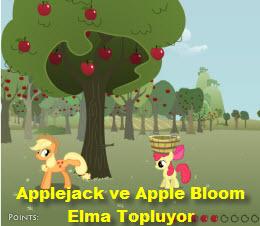 Applejack ve Apple Bloom Elma Topluyor
