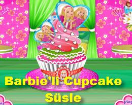Barbie'li Cupcake Süsle