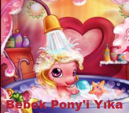 Bebek Pony'i Yıka