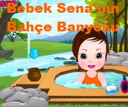Bebek Sena'nın Bahçe Banyosu