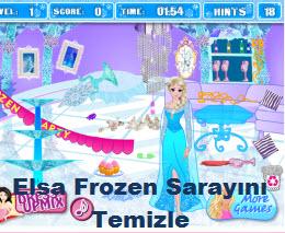 Elsa Frozen Sarayını Temizle