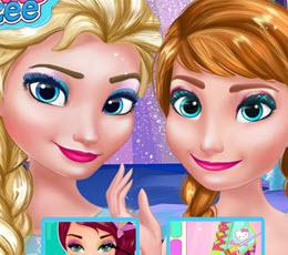 Игры анна и эльза макияж