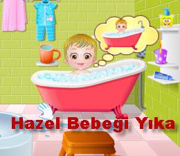 Hazel Bebeği Yıka