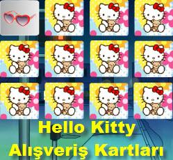 Hello Kitty Alış Veriş Kartları