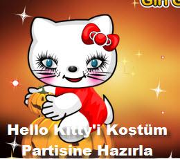 Hello Kitty'i Kostüm Partisine Hazırla
