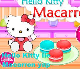 Hello Kitty İle  Macarron yap