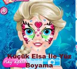 Küçük Elsa İle Yüz Boyama