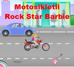 Motosikletli  Rock Star Barbie