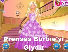 Prenses Barbie'yi Giydir