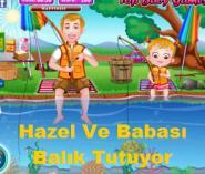 Hazel Ve Babası Balık Tutuyor