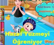 Hazel Yüzmeyi Öğreniyor