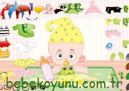 Tatlı Bebeği Giydir
